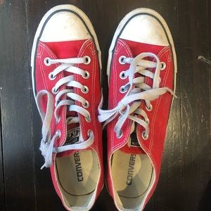 5/25 Womens Converse Red Size 8.5